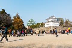 Turista en el castillo de Nagoya Fotos de archivo libres de regalías