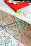 Turista en el concepto de París Foto de archivo libre de regalías
