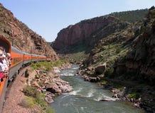 Turista en el tren fotografía de archivo libre de regalías