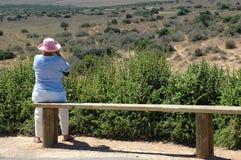 Turista en África Imagen de archivo libre de regalías