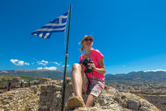 Turista en Grecia Fotos de archivo libres de regalías