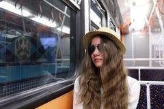 Turista en metro Imagenes de archivo