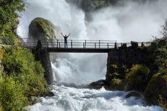 Turista en Noruega fotografía de archivo libre de regalías