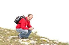 Turista envejecido feliz del hombre fotos de archivo