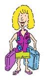 Turista fêmea ilustração do vetor