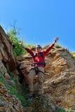 Turista felice Immagine Stock
