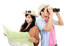 Turista felice dell'adolescente Fotografia Stock