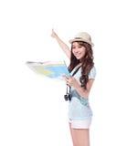 Turista feliz da mulher Imagem de Stock Royalty Free