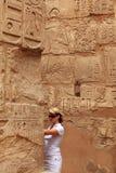 Turista femminile Immagini Stock