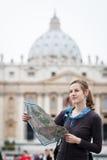 Turista femminile abbastanza giovane Immagine Stock Libera da Diritti