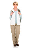 Turista femminile invecchiato mezzo Fotografia Stock Libera da Diritti