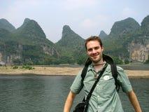 Turista a Guilin Immagini Stock