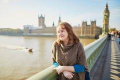 Turista joven en Londres Fotografía de archivo