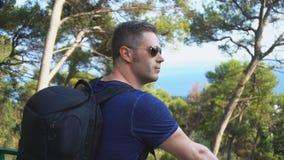 Turista masculino almacen de video