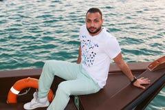 Turista na ilha de palma - Dubai Imagens de Stock