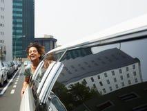 Turista na limusina Imagem de Stock