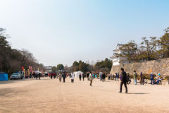 Turista no castelo de Nagoya Fotografia de Stock Royalty Free