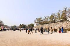 Turista no castelo de Nagoya Imagens de Stock Royalty Free