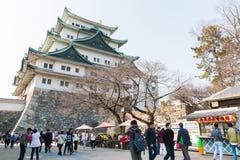 Turista no castelo de Nagoya Imagens de Stock