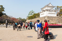 Turista no castelo de Nagoya Fotos de Stock Royalty Free
