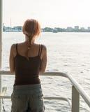 Turista no cruzeiro do delta de Mekong Imagens de Stock