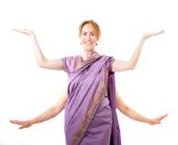 Turista no vestido indiano foto de stock