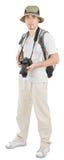 Turista novo com câmera Imagem de Stock