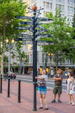 Turista perso a Portland Oregon Immagine Stock Libera da Diritti