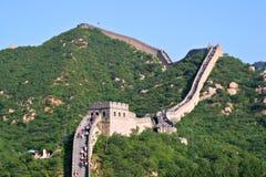 Turista-punto alla Grande Muraglia della Cina Fotografie Stock