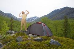 Turista que relaxa Fotos de Stock