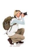 Turista que toma cuadros Imagen de archivo