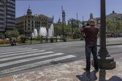 Turista que toma a foto Imagem de Stock