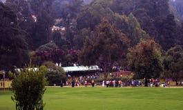 Turista sazonal na paisagem do jardim fotos de stock royalty free