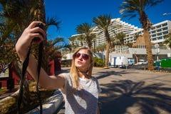 Turista Selfie Imagenes de archivo