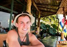 Turista sorridente fotografie stock libere da diritti