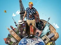 Turista sulla vacanza Fotografie Stock