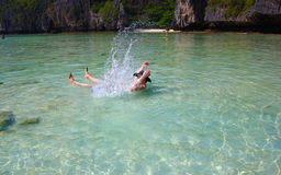 Turista in Tailandia Immagine Stock