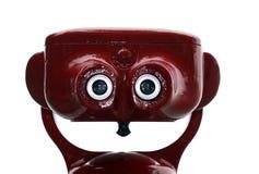 Turista vermelho binocular imagens de stock royalty free