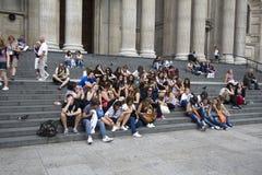 Turistas adolescentes Imagen de archivo