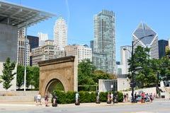 Turistas Chicago de Segway Imagen de archivo