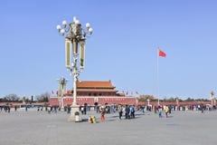 Turistas chineses na Praça de Tiananmen, Pequim, China Foto de Stock Royalty Free