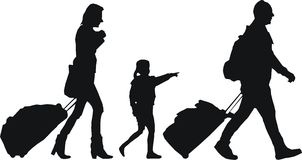 Turistas con equipaje Imagenes de archivo
