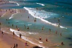 Turistas da praia de Bondi imagens de stock royalty free