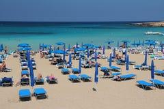 Turistas de Chipre Fotografia de Stock