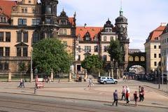 Turistas de Dresden, Alemanha Imagens de Stock