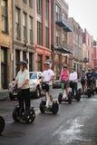 Turistas de New Orleans - de Segway Foto de archivo libre de regalías