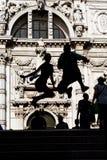 Turistas de salto Imagem de Stock