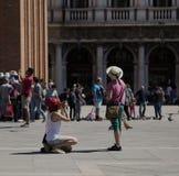 Turistas de Venecia Imágenes de archivo libres de regalías