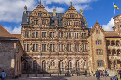 Turistas del castillo de Heidelberg Foto de archivo libre de regalías