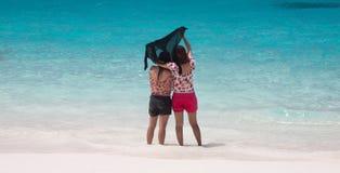 Turistas del dúo Imagen de archivo libre de regalías